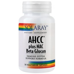 AHCC plus NAC & BETA GLUCAN 30cps Solaray SECOM