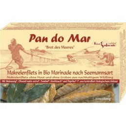 Macrou file marinat bio 120g Pan do Mar